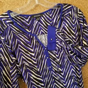 Notations Striped Blouse